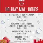 セブ島ショッピングモール営業時間(年末年始2015)
