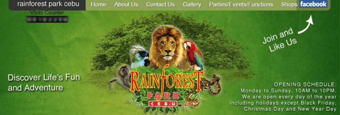 セブ島レインフォレストRainforest Park Cebu