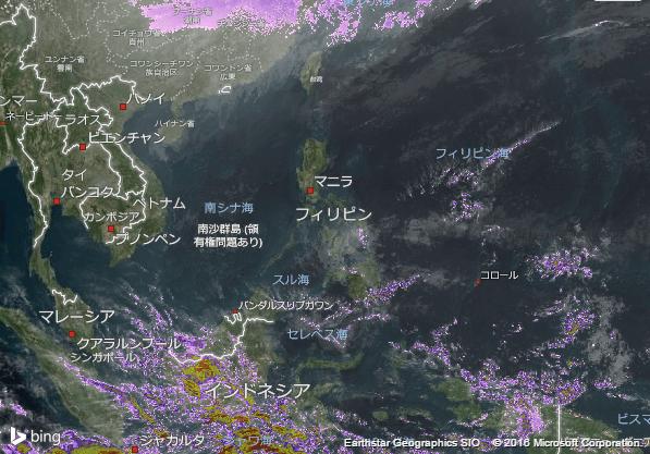 16.2.1.Philippinesの衛星画像 AccuWeather.com JA