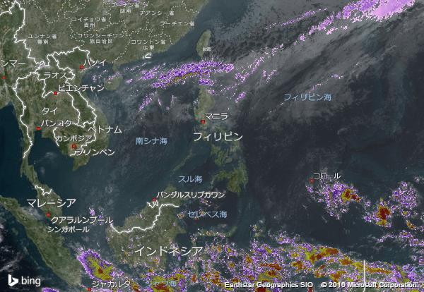 16.3.1.Philippinesの衛星画像 AccuWeather.com JA