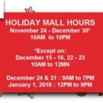 セブ島ショッピングモール営業時間(年末年始2017)
