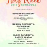 セブ島ショッピングモール営業時間(ホーリーウィーク2018)